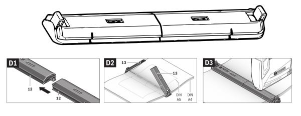 Complemento para encuadernar con grapadora batería bosch