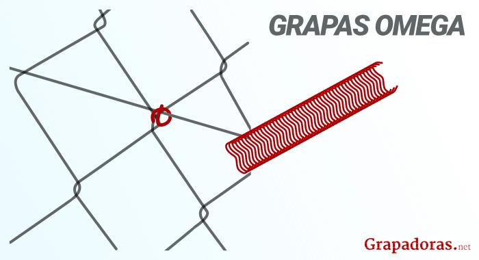 Grapas omega para vallas y mallas metálicas