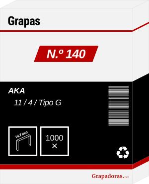 Caja de grapas número 140 o tipo g