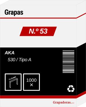 Cajita de 1000 grapas tipo 53
