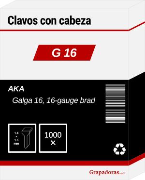 Caja clavos 16G