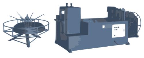 Aplanadora industrial de alambre