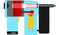 Grapadora híbrida eléctrica-neumática